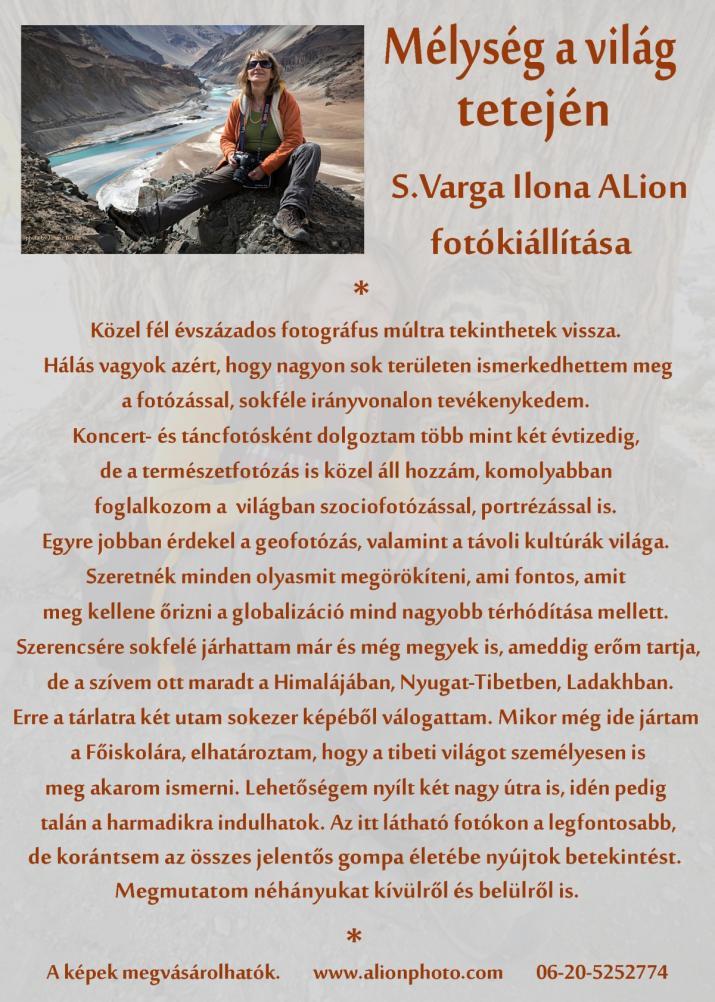 Mélység a világ tetején - szakralitás Ladakhban - nagykiállítás